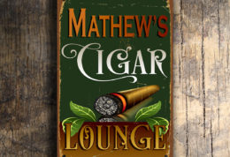 PERSONALIZED CIGAR LOUNGE SIGN