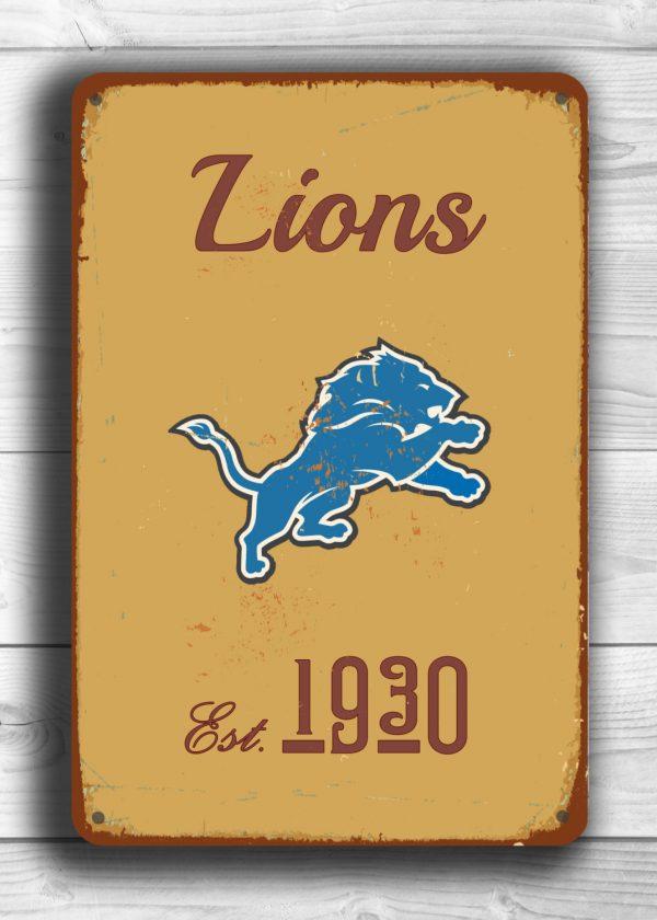 Vintage style Detroit Lions Sign