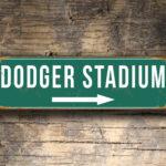 Vintage style Dodger Stadium Sign