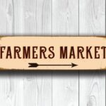 Vintage style Farmers Market Sign