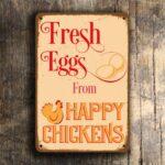 Vintage style Fresh eggs Sign
