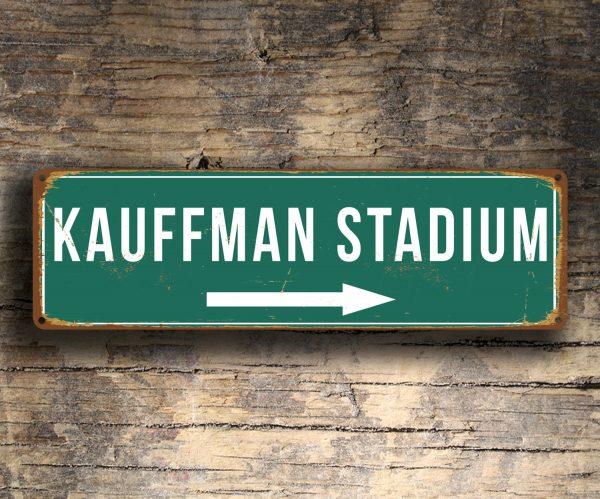 Vintage style Kauffman Stadium Sign