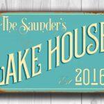 Vintage style Lake House Sign