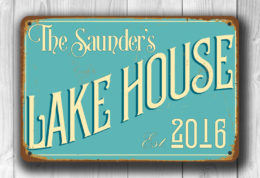 PERSONALIZED LAKE HOUSE Sign