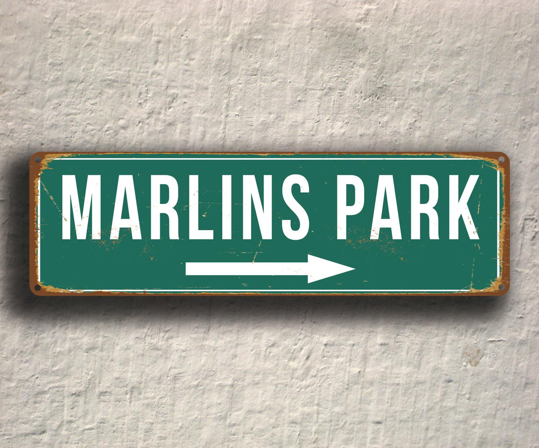Vintage style Marlins Park Sign