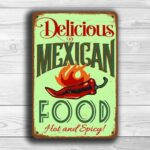 Vintage style Mexican Food Sign