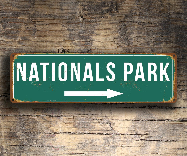 Vintage style Nationals Park Sign