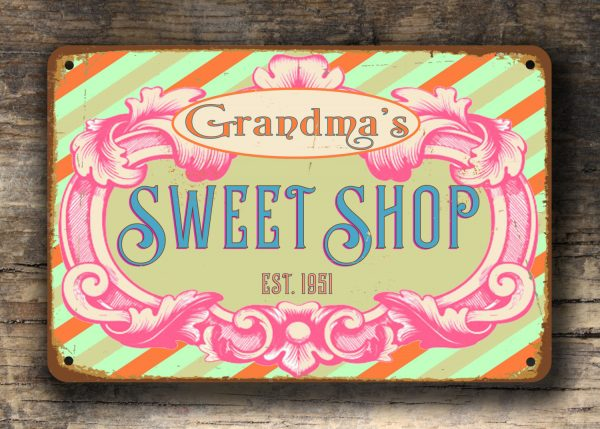 PERSONALIZED SWEET SHOP SIGN