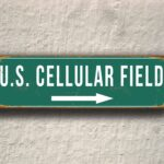 Vintage style US Cellular Field Sign