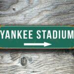Vintage style Yankee Stadium Sign