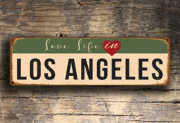 Love Life in Los Angeles Sign