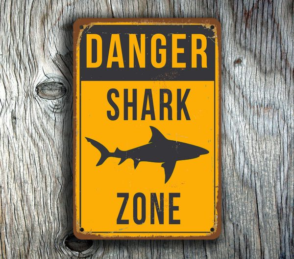 SHARK ZONE SIGN