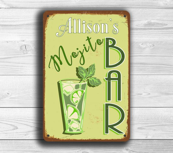 CUSTOM MOJITO BAR Sign