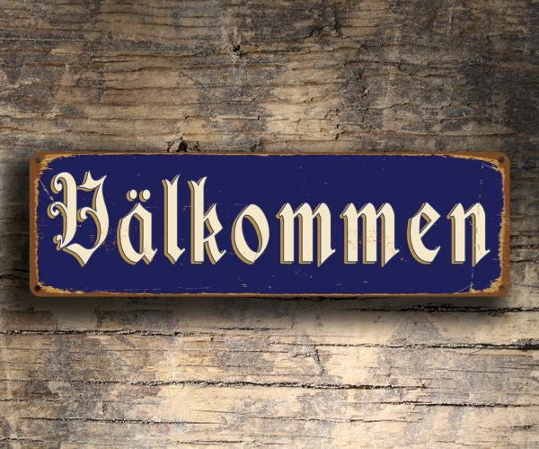 Valkommen Sign  Swedish Welcome  Classic Metal Signs. Rebirth Signs. Bearded Dragon Signs. Squamous Carcinoma Signs. Aviation Signs. Frontal Lobe Signs Of Stroke. Rate Signs. Toddler Signs. Tornado Signs Of Stroke