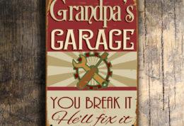 GRANDPAS GARAGE SIGN