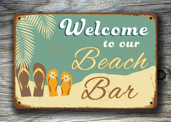 BEACH BAR SIGN