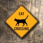 Cat Crossing Sign 1