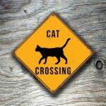 Cat Crossing Sign 2