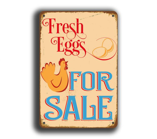 fresh eggs sign   fresh eggs for sale sign classic metal