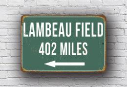Lambeau Field - Personalized Highway Sign