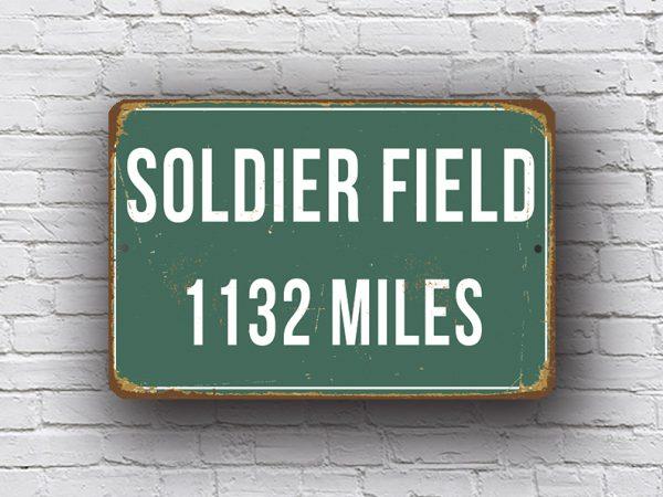 Soldier Field Stadium Sign