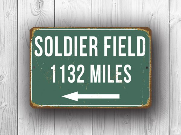 Soldier Field Stadium - Personalized Highway Sign