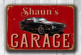 Chevy Camaro Garage Sign