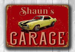 Customizable Garage Sign