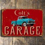 Pick Up Truck Garage Sign