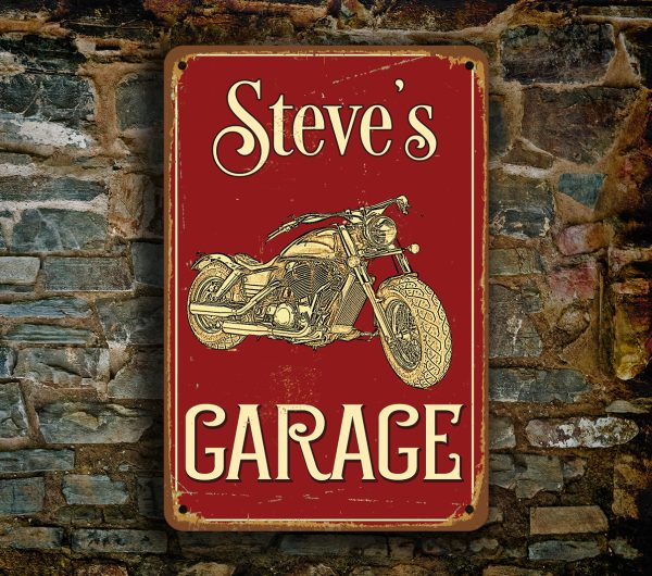 sweet garage ideas - Motorcycle Garage Sign Custom Garage Sign