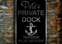 Private Dock Sign