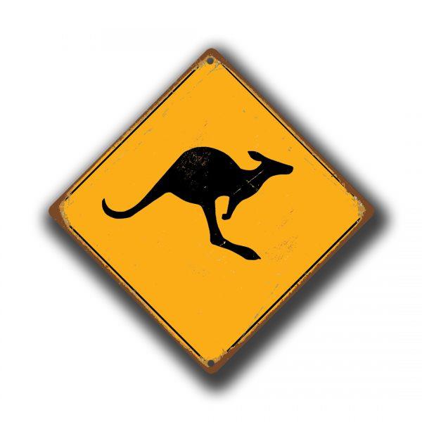 Kangaroo Xing Sign