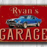 Mustang Garage Sign 4