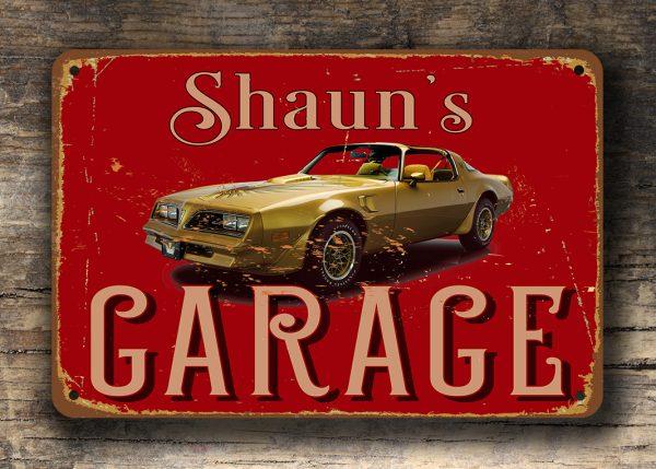 Pontiac Garage Sign