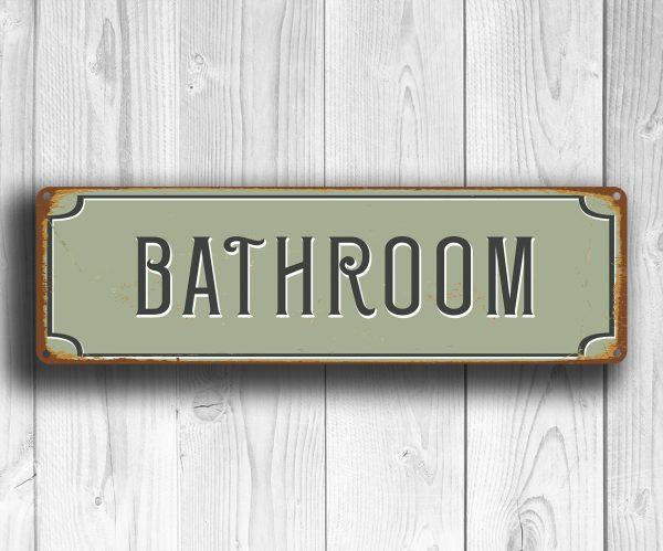Bathroom Sign Bathroom Decor Classic Metal Signs