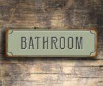 Bathroom Door Decor