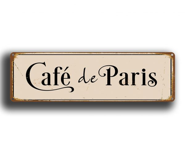 Cafe De Paris Sign Coffee Signs Classic Metal Signs
