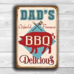Dads BBQ Sign 1