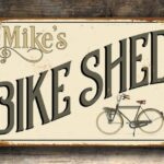 Custom Bike Shed Sign 1