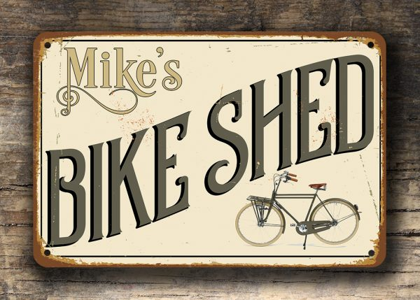Personalized Bike Shed Sign
