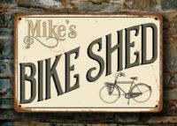 Custom Bike Shed Sign