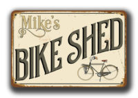 Bike Shed Decor