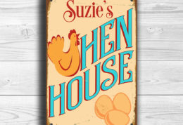 Personalized Hen House Sign