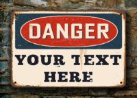 Funny Danger Sign