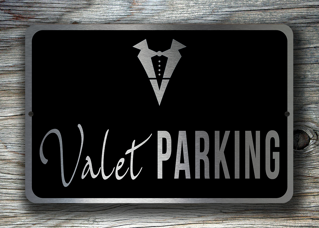 Valet Parking Sign Valet Signs Classic Metal Signs