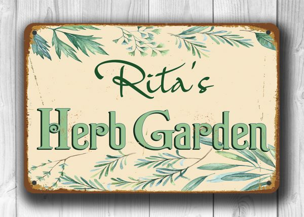 Personalized Herb Garden Sign
