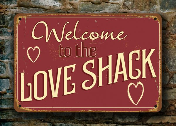 Love Shack Sign Bedroom Signs Classic Metal Signs