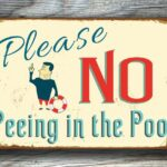 No Peeing in Pool Sign 4