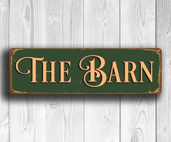 Barn Garage Signs : The barn sign outdoor signs classic metal