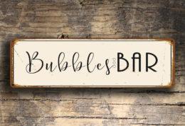 Bubbles Bar Sign